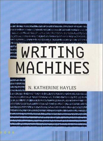 9780262582155: Writing Machines (Mediaworks Pamphlets)
