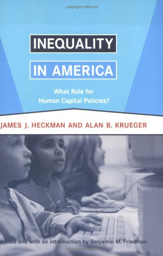 9780262582605: Inequality in America: What Role for Human Capital Policies? (Alvin Hansen Symposium on Public Policy at Harvard University)
