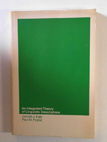 9780262610216: An Integrated Theory of Linguistic Descriptions