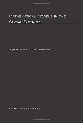 9780262610308: Mathematical Models In Social Sciences (MIT Press)