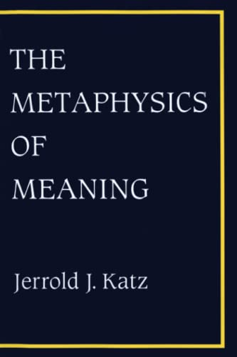 9780262610827: The Metaphysics of Meaning (Representation and Mind series)