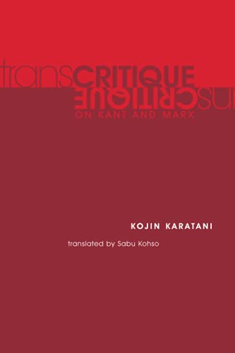 9780262612074: Transcritique: On Kant and Marx