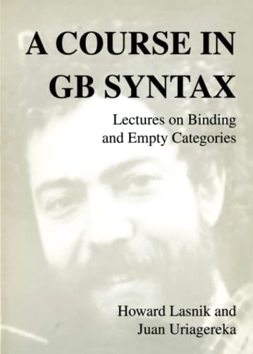 A Course in GB Syntax: Lectures on