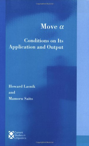 Move a: Conditions on Its Applications and: Howard Lasnik &