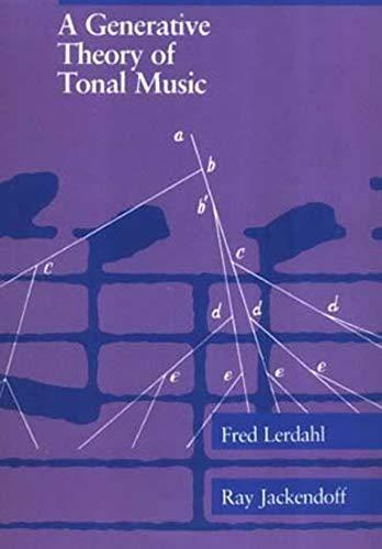 9780262621076: A Generative Theory of Tonal Music (The MIT Press)
