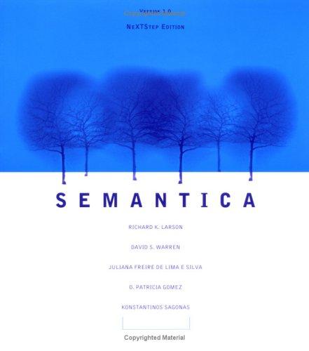 9780262621175: Semantica: Version 1.0 for Nextstep