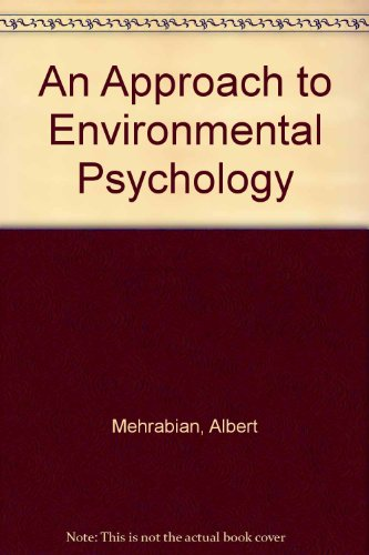 9780262630719: Approach to Environmental Psychology