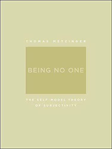 9780262633086: Being No One: the Self-Model Theory of Subjectivity