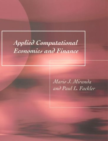 9780262633093: Applied Computational Economics and Finance (MIT Press)