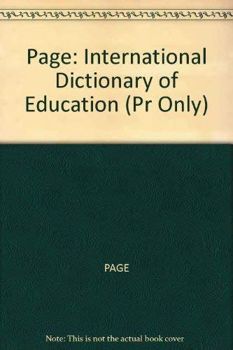 9780262660433: International Dictionary of Education