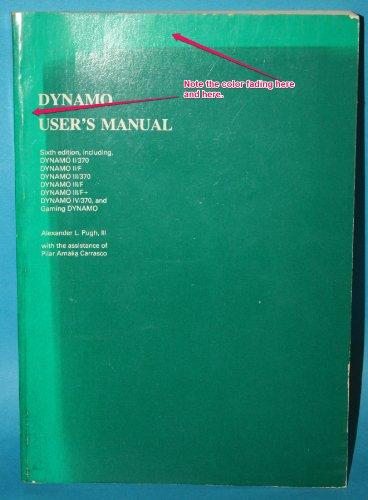 9780262660525: DYNAMO User's Handbook