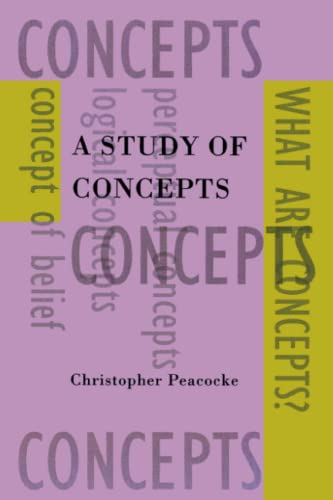 9780262660976: A Study of Concepts (Representation and Mind)