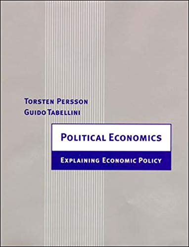 9780262661317: Political Economics: Explaining Economic Policy (Zeuthen Lectures)