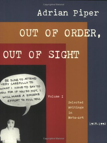 9780262661522: Out of Order, Out of Sight: Selected Writings in Meta-Art 1968-1992