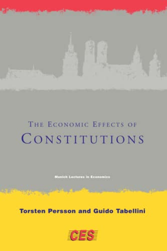 9780262661928: Economic Effects of Constitutions (Munich Lectures in Economics)