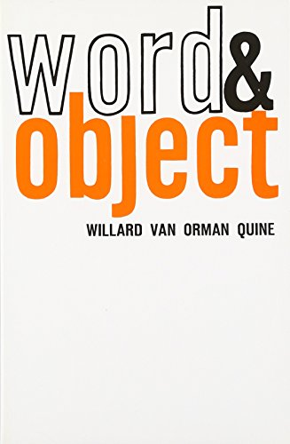9780262670012: Word and Object (MIT Press)