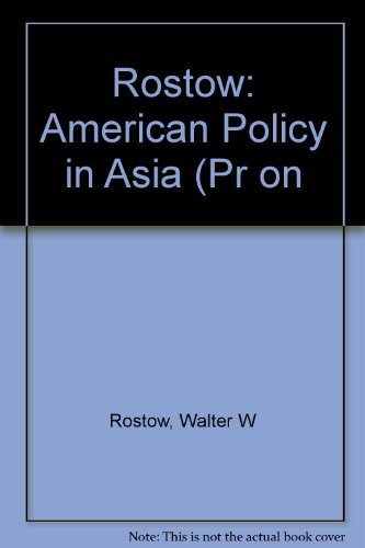 9780262680011: An American Policy in Asia