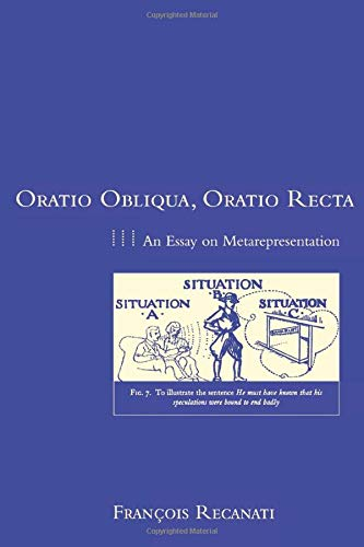 9780262681162: Oratio Obliqua, Oratio Recta: An Essay on Metarepresentation (Representation and Mind)