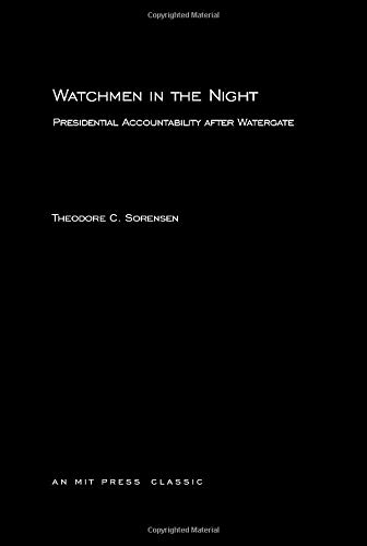 9780262690553: Watchmen in the Night: Presidential Accountability after Watergate (MIT Press)