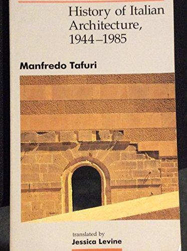 9780262700436: History of Italian Architecture, 1944-85