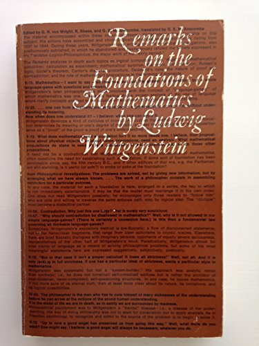 9780262730174: Remarks on the Foundations of Mathematics (Bilingual Edition) (English and German Edition)