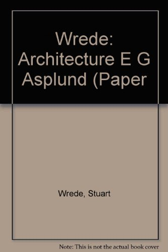 9780262730686: The Architecture of Erik Gunnar Asplund