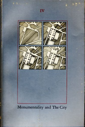 9780262750073: The Harvard Architecture Review IV: Monumentality and The City