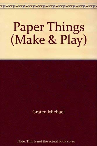 9780263058994: Paper Things (Make & Play)