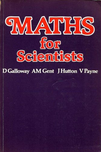 9780263063684: Mathematics for Scientists