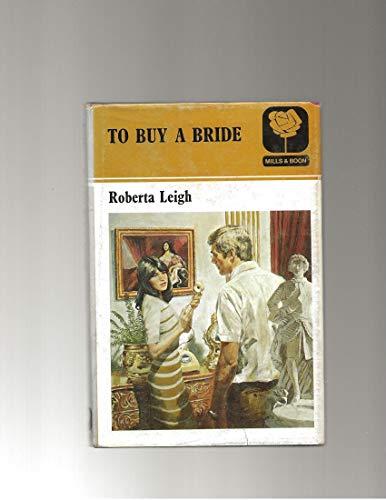 9780263090093: To Buy a Bride
