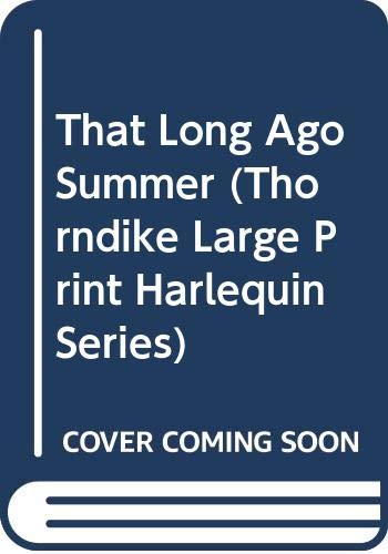 That Long Ago Summer (0263128067) by Marton, Sandra