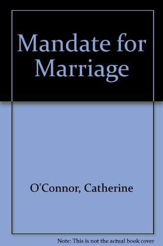 9780263142068: Mandate For Marriage