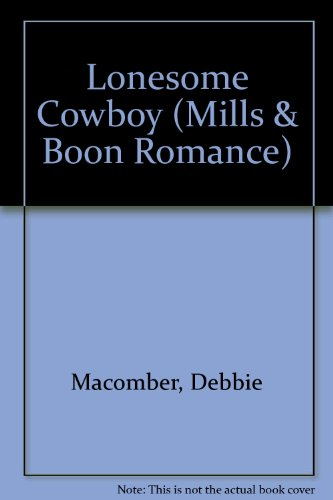 9780263160581: Lonesome Cowboy (Mills & Boon Large Print Romances)