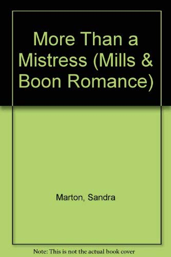9780263163124: More Than a Mistress (Mills & Boon Large Print Romances)