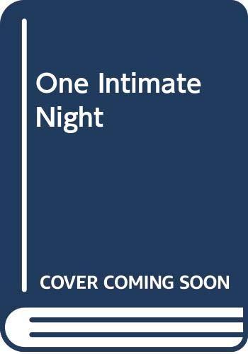 One Intimate Night (Romance) (0263164306) by Penny Jordan