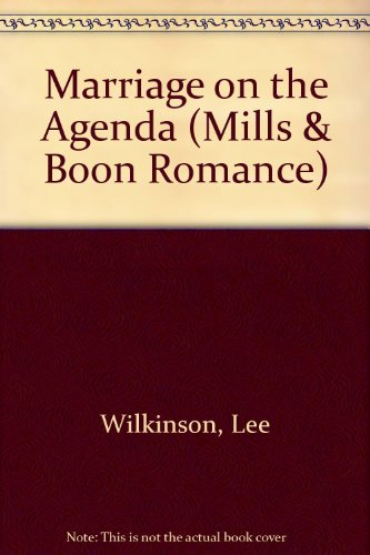 9780263170641: Marriage on the Agenda (Mills & Boon Romance)