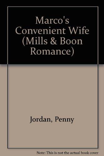 9780263175486: Marco's Convenient Wife