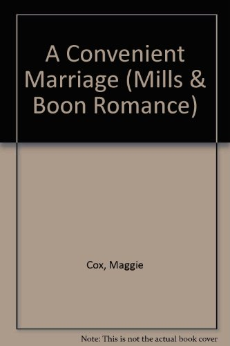 9780263177916: A Convenient Marriage (Mills & Boon Romance)