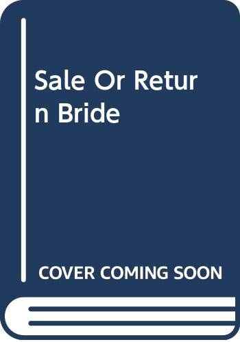 9780263187274: Sale Or Return Bride
