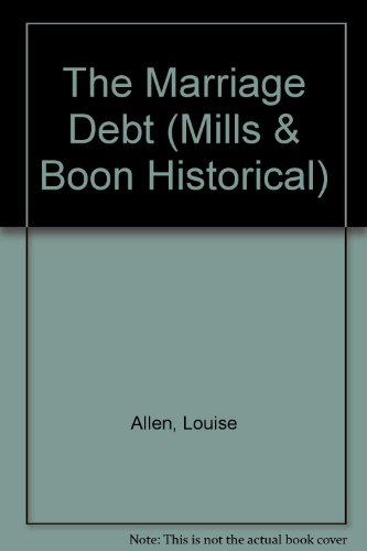 9780263188172: The Marriage Debt (Historical Romance)