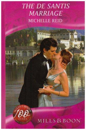 9780263203189: De Santis Marriage (Romance)