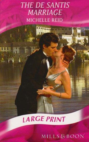 9780263204735: The de Santis Marriage (Mills & Boon Largeprint Romance)