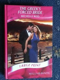9780263205954: The Greek's Forced Bride (Mills & Boon Largeprint Romance)