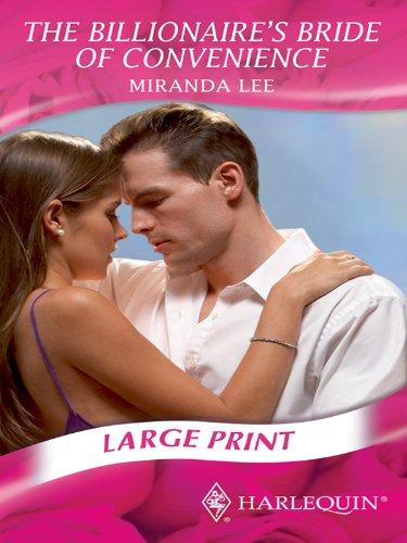 9780263206265: The Billionaire's Bride of Convenience (Mills & Boon Largeprint Romance)