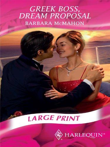 9780263206470: Greek Boss, Dream Proposal (Mills & Boon Largeprint Romance)