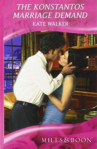 Konstantos Marriage Demand (Mills & Boon Hardback Romance) (0263208958) by Kate Walker