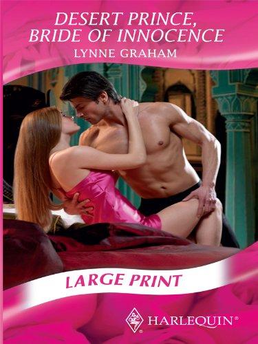 9780263211801: Desert Prince, Bride of Innocence (Mills & Boon Largeprint Romance)