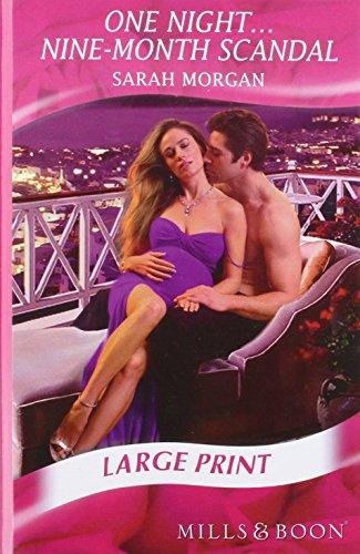 9780263212624: One Night-- Nine-Month Scandal (Mills & Boon Largeprint Romance)