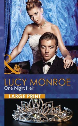9780263232325: One Night Heir (Mills & Boon Largeprint Romance)
