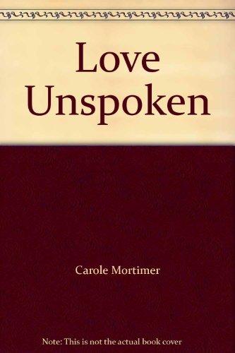9780263742282: Love Unspoken